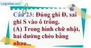 Phần câu hỏi bài 9 trang 121 Vở bài tập toán 8 tập 1