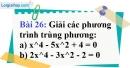 Bài 26 trang 65 Vở bài tập toán 9 tập 2