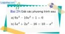 Bài 29 trang 67 Vở bài tập toán 9 tập 2