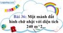 Bài 36 trang 74 Vở bài tập toán 9 tập 2
