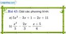 Bài 43 trang 79 Vở bài tập toán 9 tập 2