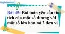 Bài 45 trang 81 Vở bài tập toán 9 tập 2