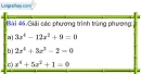 Bài 46 trang 81 Vở bài tập toán 9 tập 2
