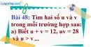 Bài 48 trang 82 Vở bài tập toán 9 tập 2