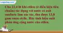 Câu 5 phần bài tập học theo SGK – Trang 124 Vở bài tập hoá 9