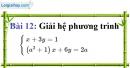 Bài 12 trang 15 Vở bài tập toán 9 tập 2