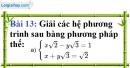 Bài 13 trang 16 Vở bài tập toán 9 tập 2