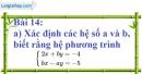 Bài 14 trang 18 Vở bài tập toán 9 Tập 2