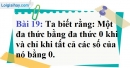 Bài 19 trang 22 Vở bài tập toán 9 tập 2