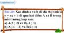 Bài 20 trang 23 Vở bài tập toán 9 tập 2