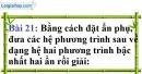 Bài 21 trang 24 Vở bài tập toán 9 tập 2