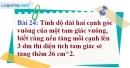 Bài 24 trang 27 Vở bài tập toán 9 tập 2