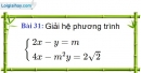 Bài 31 trang 33 Vở bài tập toán 9 tập 2