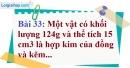 Bài 33 trang 35 Vở bài tập toán 9 tập 2