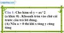 Phần câu hỏi bài 1 trang 40, 41 Vở bài tập toán 9 tập 2