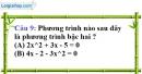 Phần câu hỏi bài 3 trang 48, 49 Vở bài tập toán 9 tập 2
