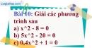 Bài 10 trang 50 Vở bài tập toán 9 tập 2