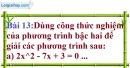 Bài 13 trang 53 Vở bài tập toán 9 tập 2