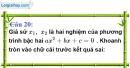 Phần câu hỏi bài 6 trang 59, 60 Vở bài tập toán 9 tập 2
