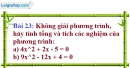 Bài 23 trang 62 Vở bài tập toán 9 tập 2