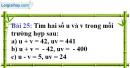 Bài 25 trang 63 Vở bài tập toán 9 tập 2
