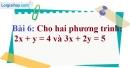 Bài 6 trang 12 Vở bài tập toán 9 tập 2