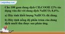 Câu 7*  phần bài tập học theo SGK – Trang 128 Vở bài tập hoá 9