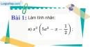 Bài 1 trang 6 Vở bài tập toán 8 tập 1
