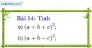Bài 14 trang 14 Vở bài tập toán 8 tập 1