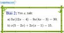 Bài 2 trang 6 Vở bài tập toán 8 tập 1