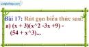Bài 17 trang 18 Vở bài tập toán 8 tập 1