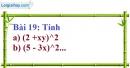 Bài 19 trang 19 Vở bài tập toán 8 tập 1