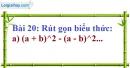 Bài 20 trang 19 Vở bài tập toán 8 tập 1