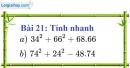 Bài 21 trang 20 Vở bài tập toán 8 tập 1