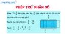 Lý thuyết phép trừ phân số - Toán 4