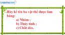 Câu 2 phần bài tập học theo SGK – Trang 7 Vở bài tập hoá 8