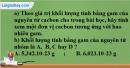 Câu 7 phần bài tập học theo SGK – Trang 16 Vở bài tập hoá 8
