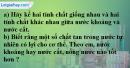Câu 7 phần bài tập học theo SGK – Trang 8 Vở bài tập hoá 8