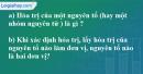 Câu 1 phần bài tập học theo SGK – Trang 32 Vở bài tập hoá 8