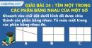 Bài 24 : Tìm một trong các phần bằng nhau của một số