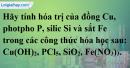 Câu 1 phần bài tập học theo SGK – Trang 36 Vở bài tập hoá 8