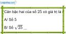 Phần câu hỏi bài 1 trang 5, 6 Vở bài tập toán 9 tập 1