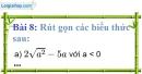 Bài 8 trang 11 Vở bài tập toán 9 tập 1