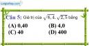Phần câu hỏi bài 3 trang 13 Vở bài tập toán 9 tập 1