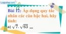 Bài 12 trang 14 Vở bài tập toán 9 tập 1