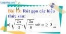 Bài 13 trang 14 Vở bài tập toán 9 tập 1