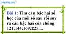 Bài 1 trang 6 Vở bài tập toán 9 tập 1