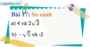 Bài 17 trang 18 Vở bài tập toán 9 tập 1