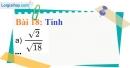 Bài 18 trang 19 Vở bài tập toán 9 tập 1