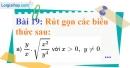 Bài 19 trang 20 Vở bài tập toán 9 tập 1